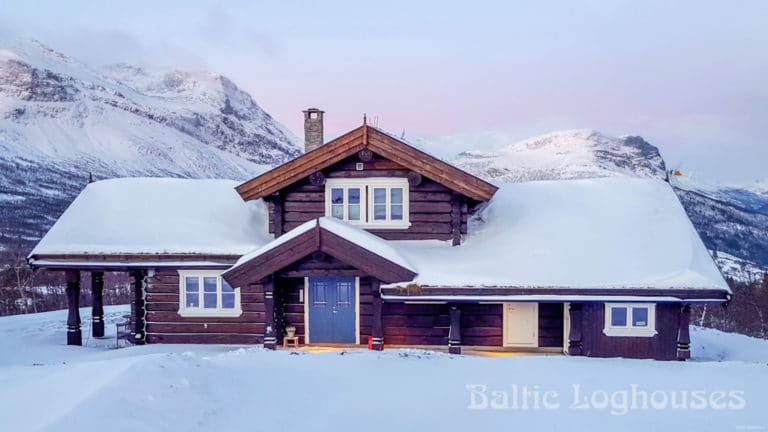 käsitöö palkmaja norras, anneks, laftehytte, handcraft log house