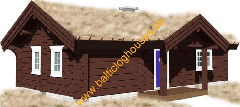 Anneks laftehytte, palkmaja handcraft log house 47