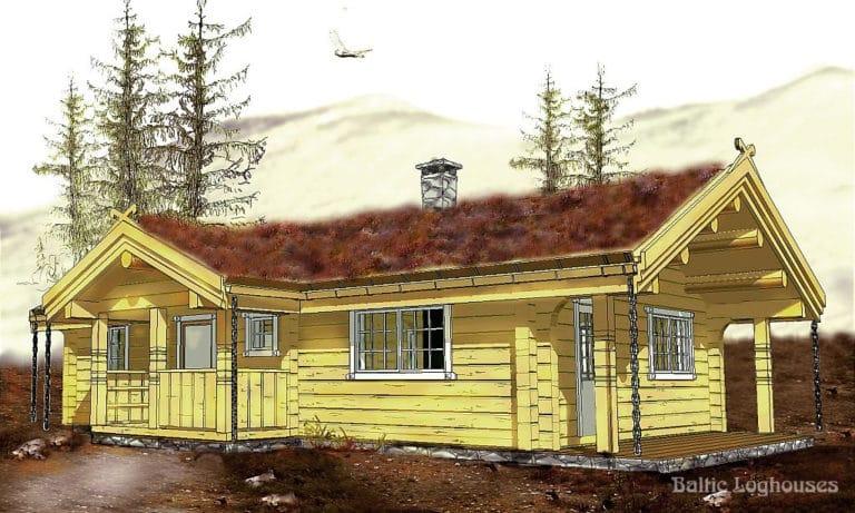 Anneks laftehytte, palkmaja handcraft log house 60