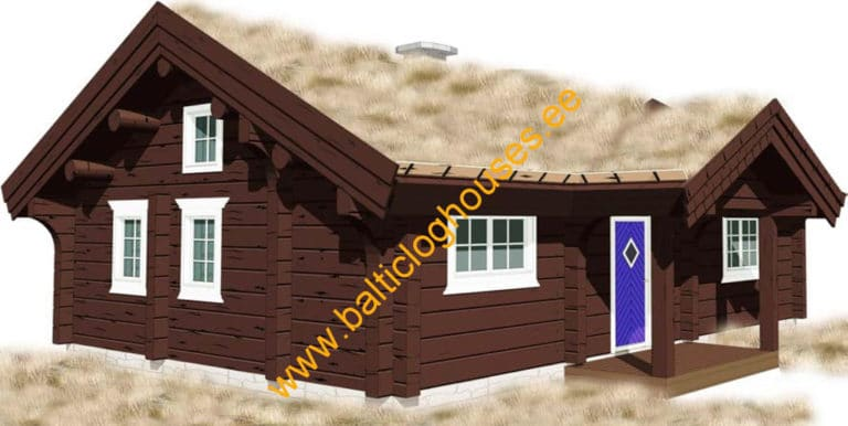 Anneks laftehytte, palkmaja handcraft log house 62