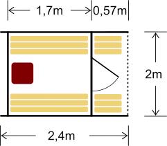Terrassiga tünnisaun 240 on sobiv kuni 4 inimesele, pakub saunalistele võimalust hingata värsket õhku väljas terassil istudes