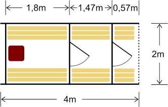 Terrassiga tünnisaun 400 pakub saunalistele võimalust hoida riideid eesruumis ja hingata värsket õhku väljas terassil istudes