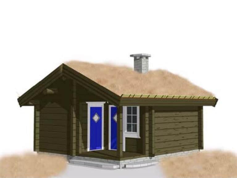 Anneks laftehytte, palkmaja handcrafted log cabin log house 21