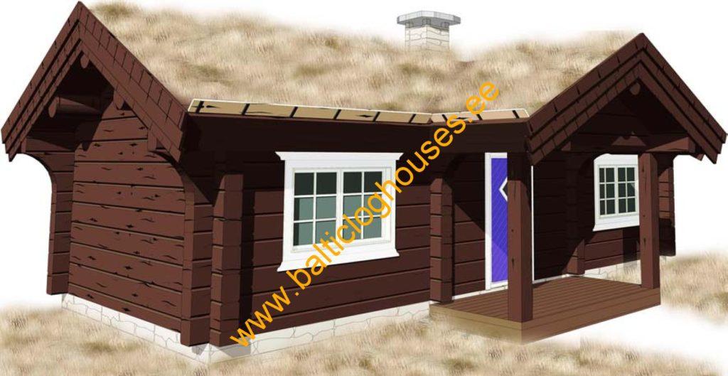 Anneks laftehytte, palkmaja handcrafted log house log house 31