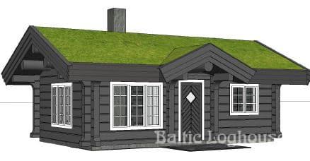 Anneks laftehytte, palkmaja handcraft log house 31K