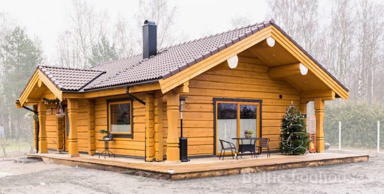 Anneks laftehytte, palkmaja Kabina handcraft log house 76