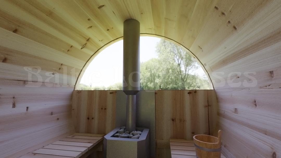 Torusaun, leiliruumi pool kaar klaasist sein