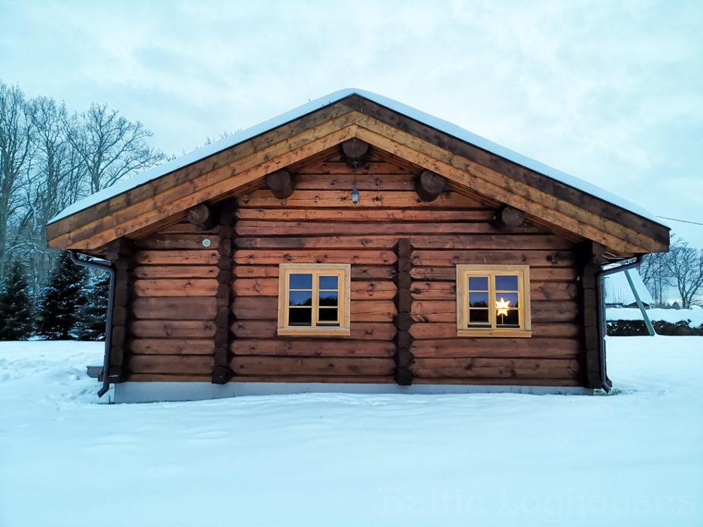bshkäsitöö palkmaja, log house, laftehytte, murukatusega palkmaja, Jakob 76