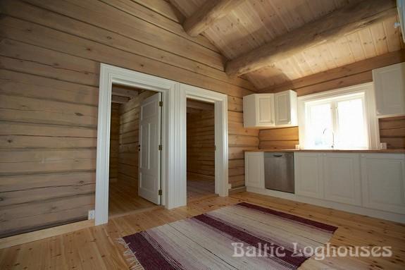 hand crafted log house käsitöö palkmaja, baltic loghouses. Köök. Laftehytte norras
