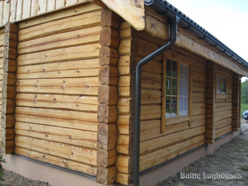 palkmaja anneks, laftehytte handcraft log house