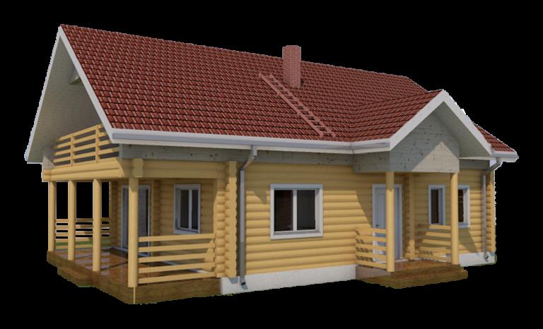 Käsitöö palkmaja, laftehytte, tommerhus, log house
